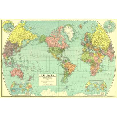 Фотообои Карта мира 1932г | арт.1929