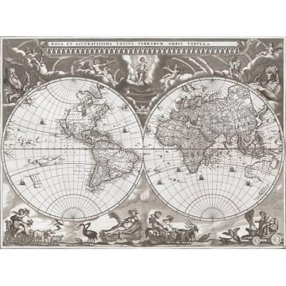 Фотообои Карта 1664г | арт.193
