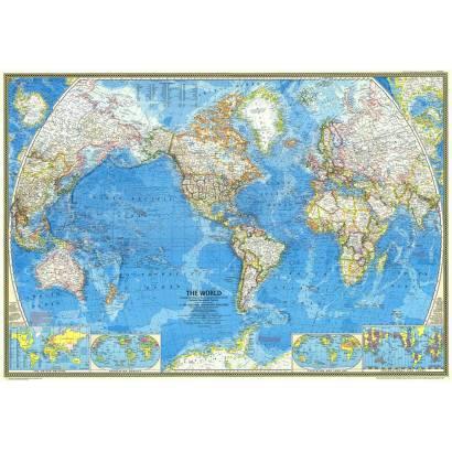 Фотообои Карта мира 1970 | арт.1931