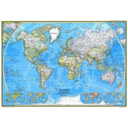 Фотообои Карта мира 1975 | арт.1932