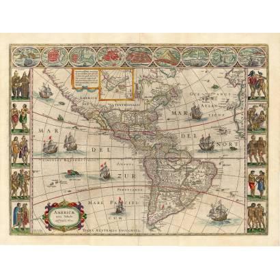 Фотообои Карта Америки 1640 | арт.1936