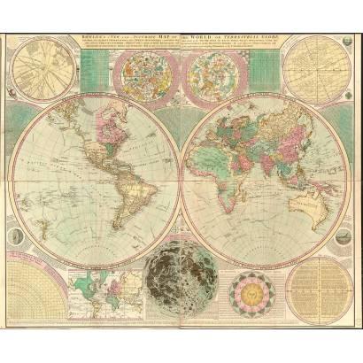 Фотообои Карта мира 1796 | арт.1937