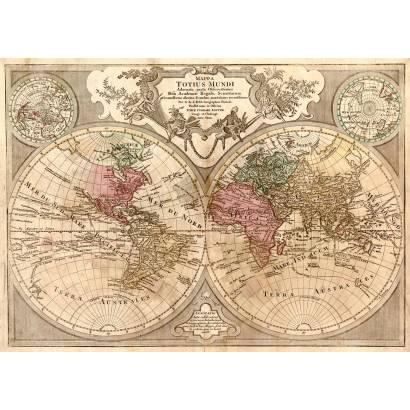 Фотообои Карта мира 1675-1726 | арт.1941
