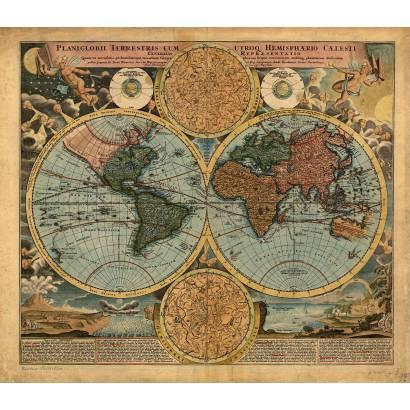 Фотообои Карта мира 1663-1724 | арт.1944