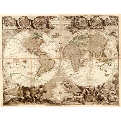 Фотообои Карта мира 1708 | арт.1946