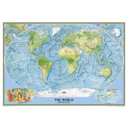 Фотообои Физическая карта мира | арт.1952