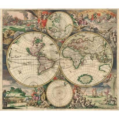 Фотообои Карта мира 1689 | арт.1972