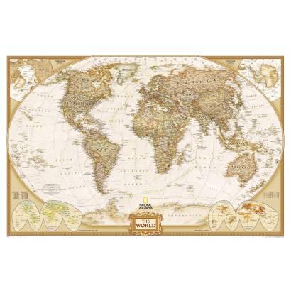 Фотообои Карта мира | арт.1973