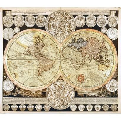 Фотообои Старинная карта мира | арт.1984