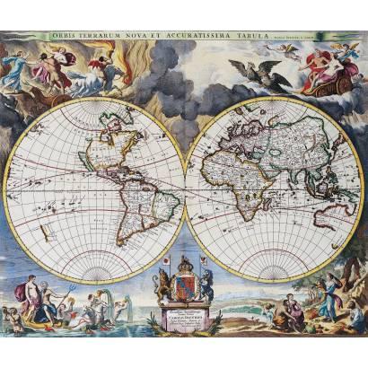 Фотообои Старинная карта мира | арт.1986