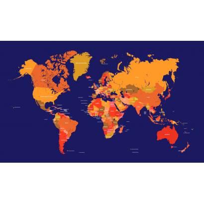 Фотообои Карта мира | арт.1990