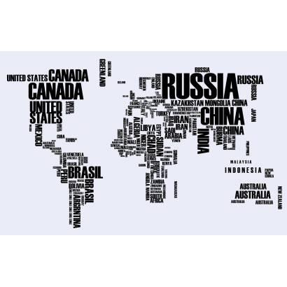 Фотообои Карта мира из названий стран | арт.1992