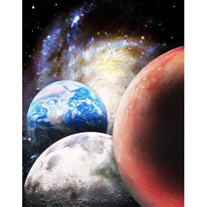 Фотообои Три планеты | арт.2098