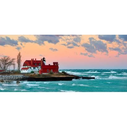 Фотообои Красный маяк | арт.21271