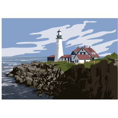 Фотообои Графичный маяк | арт.21273