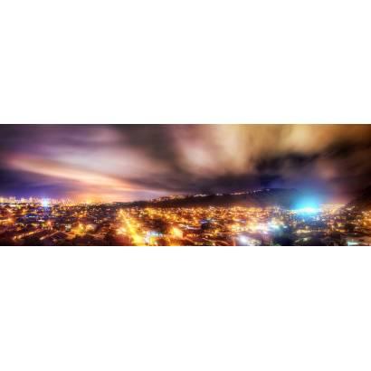 Фотообои Ночной город под светящимся небом | арт.2265