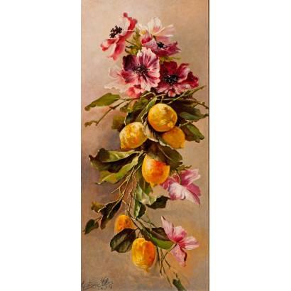 Фотообои Цветы и лимоны | арт.2290