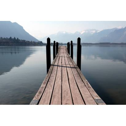 Фотообои Пирс на горном озере   арт.23546