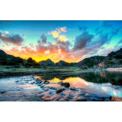 Фотообои Закат на берегу реки | арт.23640