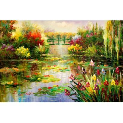 Фотообои Мостик над прудом | арт.23681
