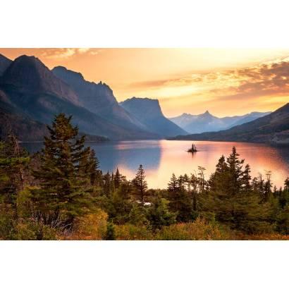 Фотообои Вечер над горным озером | арт.23687
