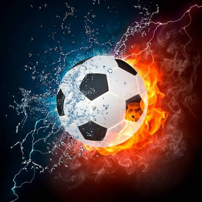 Фотообои Огненный мяч | арт.2429
