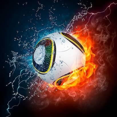 Фотообои Огненный мяч | арт.2430