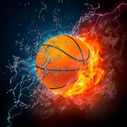 Фотообои Огненный мяч | арт.2431
