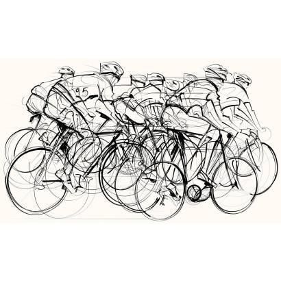 Фотообои Велосипедисты | арт.2456