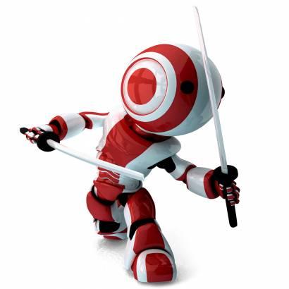 Фотообои Робот с мечами | арт.247
