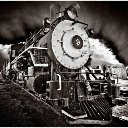 Фотообои Черно-белый локомотив | арт.25242