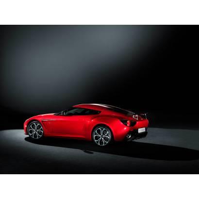 Фотообои Красное авто на черном фоне | арт.25265