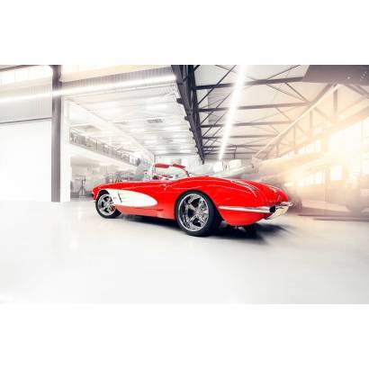 Фотообои Красный Chevrolet Corvette | арт.25285