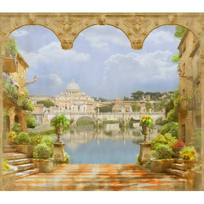 Фотообои Вид с террасы на собор святого Петра | арт.26133
