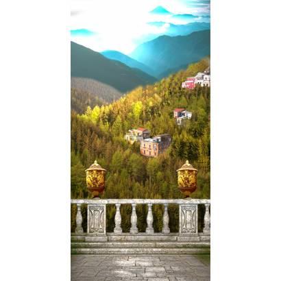 Фотообои Балкон с видом на город в горах | арт.26138