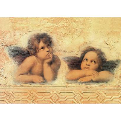 Фотообои Ангелы на винтажном фоне | арт.26156