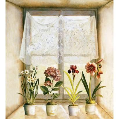Фотообои Цветы на подоконнике | арт.26160