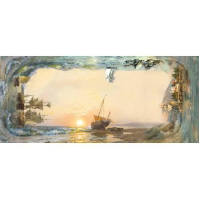 Фотообои Корабли плывут к закату | арт.26162