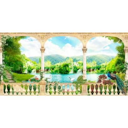 Фотообои Вид на живописный сад | арт.26169