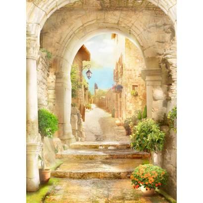 Фотообои Лестница и арка в старом городке | арт.26173