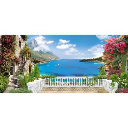 Фотообои Вид с балкона на море | арт.26175