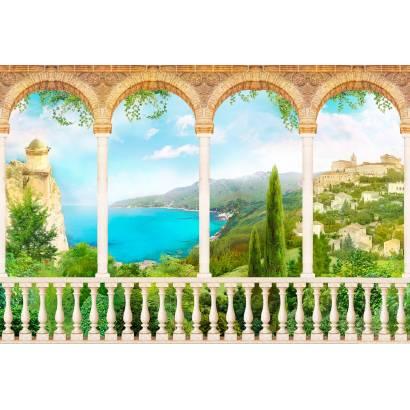 Фотообои Вид с галереи на побережье | арт.26181
