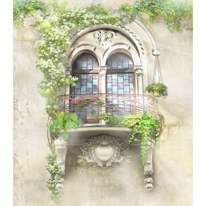Фотообои Балкон, увитый цветами | арт.26182
