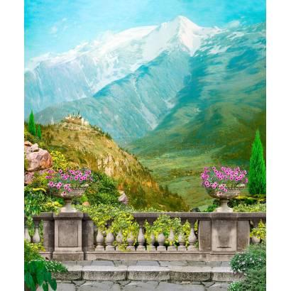 Фотообои Горный пейзаж. Вид с балкона. | арт.26189