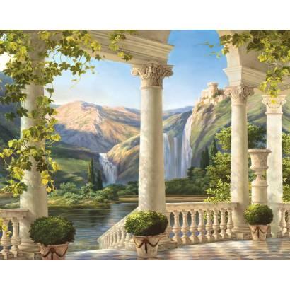 Фотообои Терраса у водопада | арт.26194