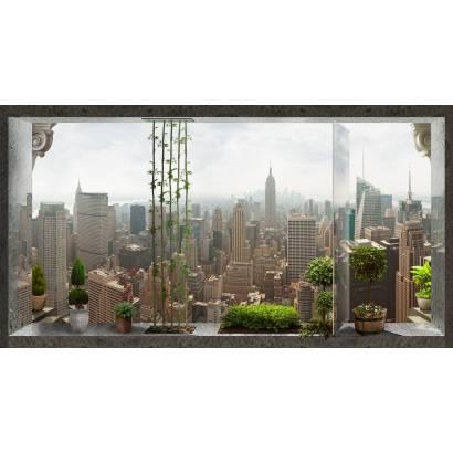 Фотообои Вид на большой город из окна | арт.26196