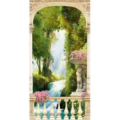 Фотообои Вид на водопад сквозь арку | арт.26201