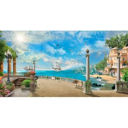 Фотообои Берег моря. Коллаж | арт.26202