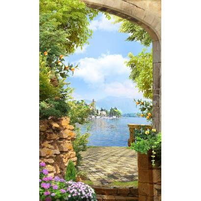 Фотообои Старинная арка на берегу моря | арт.26205