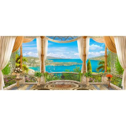 Фотообои Роскошный балкон, выходящий на море | арт.26210